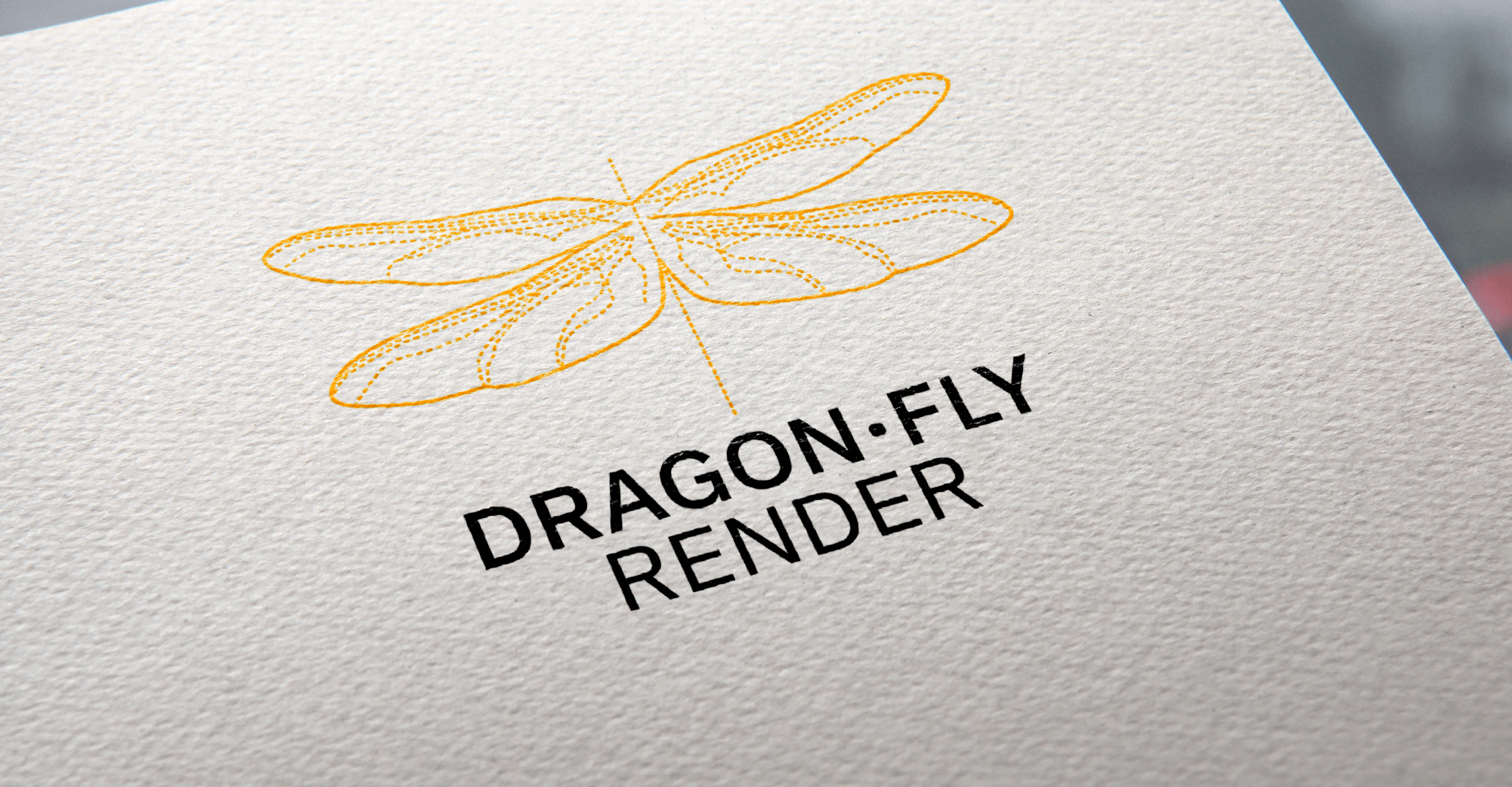 Dragon-fly Render, logotipo | Ideamatic