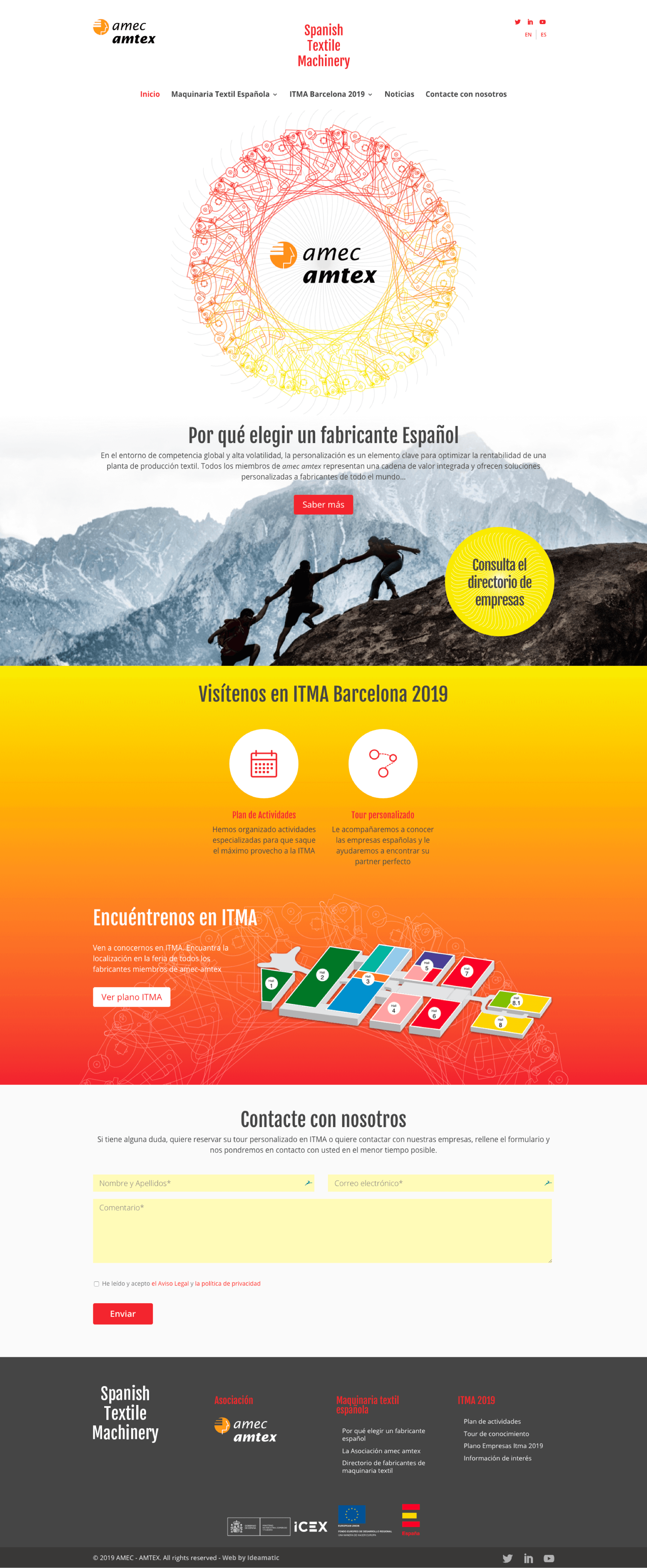 Web ITMA Barcelona 2019 | Ideamatic