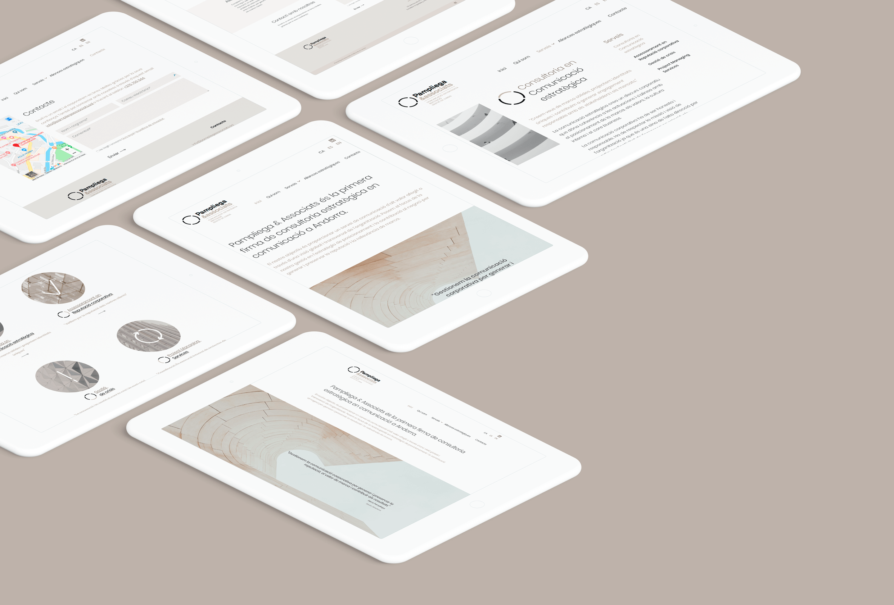 Web responsive Pampliega & Associats | Ideamatic